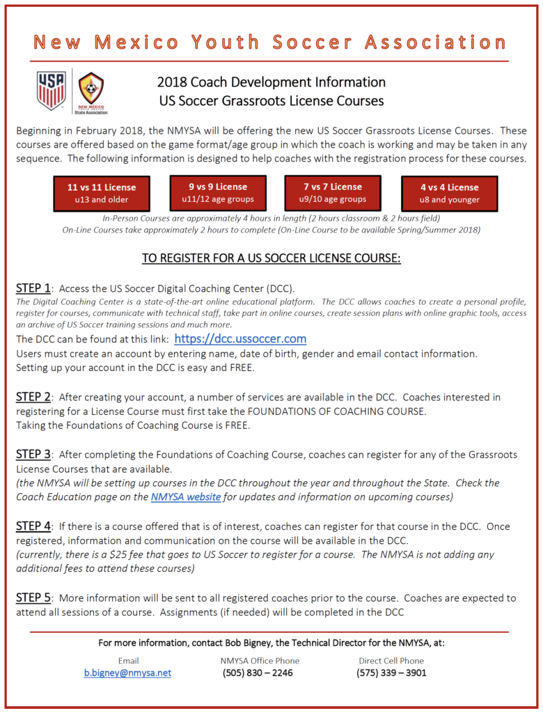Grass Roots License Course Descriptions