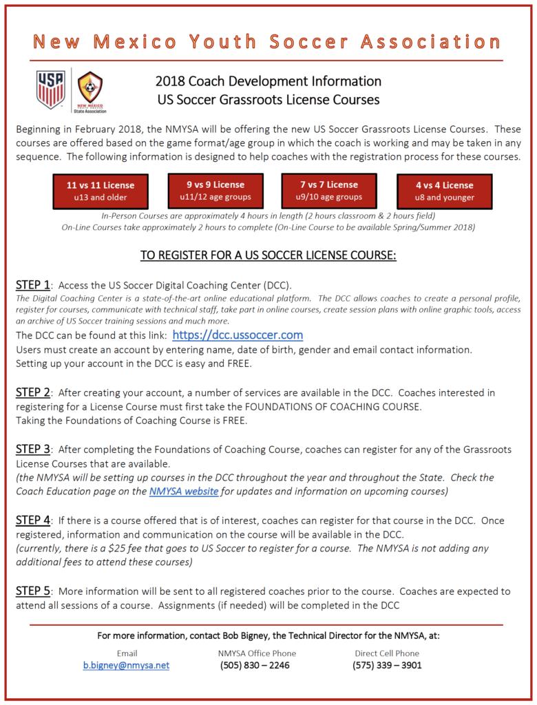 Grass Roots License Course Descriptions
